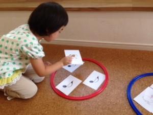 まめ3(3歳) 音符を習い始めました!
