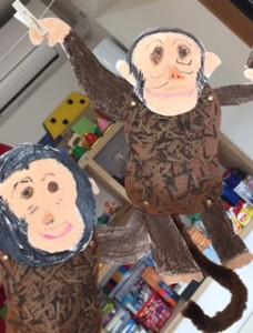 「チンパンジー」月1回アートクラス