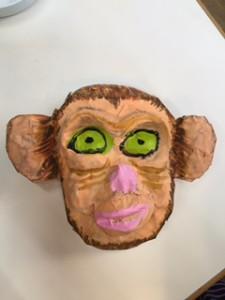 月1回アートクラス 「サルのお面」