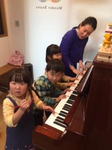 まめ3クラス 「みんなでピアノ」