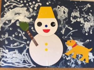 ひよこまめクラス 「雪(雪だるま)」