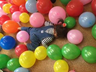 「風船パーティー」ひよこまめ&まめ1クラス
