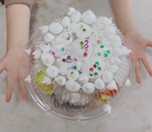 キラキラケーキ